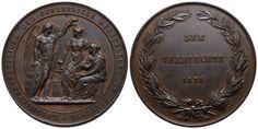 Verdienstmedaille 1878 von Leisek. Auf die Landwirtschaftliche und Gewerbliche Ausstellung in Bistritz Personalized Items, Laurel Wreath, Crests