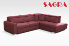 """New FABRIC Corner Sofa """"Rotterdam"""" RED GREY BROW BLACK leather 2 3 seater SAGRA in Home, Furniture & DIY, Furniture, Sofas, Armchairs & Suites   eBay"""