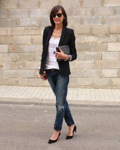 jeans/blazer