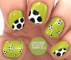 World Cup Final Nail Art for Barry M + Tutorial - One Nail To Rule Them All