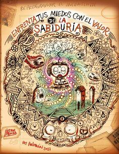 zerda, zerda hector, rey arlequin, ilustracion, ilustrador, lowbrow, surrealismo pop, arte, artista, arte digital, humor, humor grafico, historieta  boceto de libro con frases propias, y conocidas. #aforismos #refranes #máximas #citas #frases #reyarlequin #hectorzerda #ElNiñoQueTodosLLevamosDentro #doodlearts #coloringbook #Prejuicios #mandalas #doodle