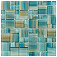 Mineral Tiles - Glass Mosaic Tile Aquarella Aqua, $16.49 (http://www.mineraltiles.com/glass-mosaic-tile-aquarella-aqua/)