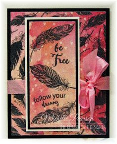 Be Free by @mshellp  for @therubbercafe using @bobunny #card #stamping #creativecafeKOTM