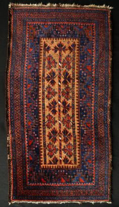 Prayer rug Qainat, Baluch, Northeast Persia Third quarter 19th century (1850 - 1874) STRUCTURE pile, asymmetric knot open left with balanced plain weave kelim ends €4500