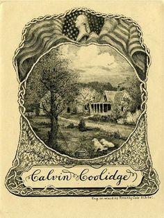 calvin coolidge bookplate ex libris