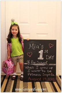 First Day of School Chalkboard Canvas Photo Pictures Chalkboard Canvas, School Chalkboard, Diy Chalkboard, School Days, Back To School, First Day Of School Pictures, School Signs, Crafty Kids, Cloudy Day