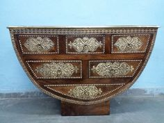 For Sale Sheesham Wood Brass Fitted D Shape Cabinet For More Information Please Visit http://usedfurnitures.in/product/brass-fitted-d-shape-cabinet-1902 or www.usedfurnitures.in or Call: 8826755599