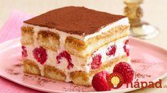 Saigon Cinnamon Tiramisu with Fresh Raspberries Sheet Cake Recipes, Sponge Cake Recipes, Dump Cake Recipes, Dessert Recipes, Strawberry Cake Recipes, Healthy Cake Recipes, Homemade Cake Recipes, Raspberry Tiramisu, Bon Dessert