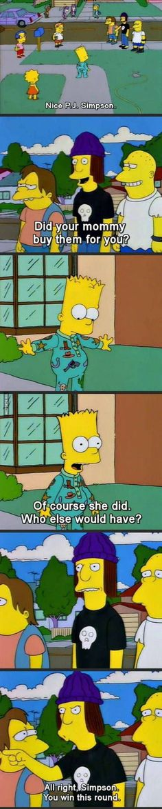 Simpsons P.J Classic ... I don't even like the Simpsons, but this is great