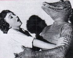 The Alligator People (1959) These were the Saturday Afternoon Matinee movies.  They were broken into three or four parts, one each week.  There would be several cartoons that went along with it. and the Mgr would draw ticket numbers for candy or a free ticket for next weeks installment.  All for 25 or 50 cents , I forget. But it was a part of a great weekend There was always the laughing and howling from the audience, Pop corn and a drink and all your friends.