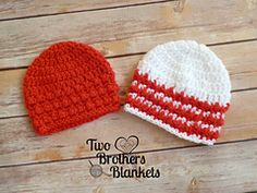 """Ravelry: Little Textures Newborn Beanie pattern by Two Brothers Blankets   Made for newborns (13-14""""). Go down a hook size or two to make a preemie hat."""