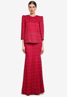 Kedah Pocket Kurung from Rizalman for Zalora in Bridesmaid Dresses, Wedding Dresses, Kebaya, Traditional Outfits, Dresses For Work, Fashion Outfits, Pocket, Eid, Pretty
