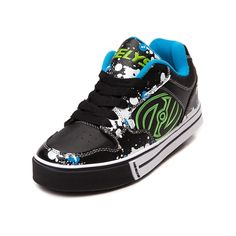 Shop for Tween Heelys Motion Paint Skate Shoe in Black White at Journeys Kidz. Shop today for the hottest brands in mens shoes and womens shoes at JourneysKidz.com.Make your move with the new Motion Paint Skate Shoe from Heelys! The Motion Paint Skate Shoe offers synthetic leather uppers with splatter paint graphic trim, breathable toe perforations, padded tongue and collar for superior comfort, and full lace closure. The durable rubber outsole provides a removable FATS low profile wheel…