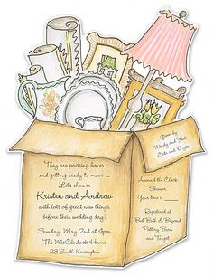 Chá de Casa Nova // Chá de Panelas // Chá de Cozinha // Convite