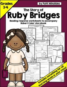 "This product is designed to accompany Robert Coles' ""The Story of Ruby Bridges"".  It was created for students in third and fourth grades.    The pages can easily be assigned as a booklet or individually.  There is something in this package for all students; making it a very inclusive product. Everyone can enjoy the read-aloud, and then when it comes to independent work time, teachers can provide meaningful work for all students in the class, regardless of learning level."