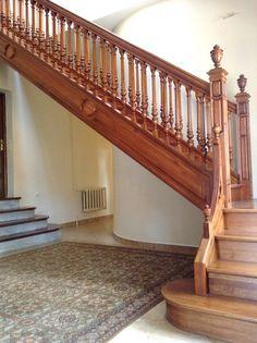 Morozov mansion oak staircase.