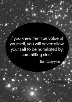 islam, wisdom, value of yourself