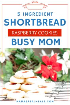 Need an easy christmas cookie recipe? Check out this easy 5 ingredient jam thumbprint cookie recipe that only make one bowl dirty! Click through the pin to get the full recipe step by step instructions and the nutritional information. Raspberry Thumbprint Cookies, Raspberry Cookies, Thumbprint Cookies Recipe, Easy Christmas Cookie Recipes, Easy Cookie Recipes, Dessert Recipes, Christmas Treats, Drink Recipes, Easy Recipes