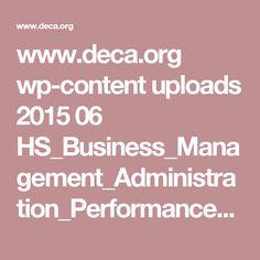 www.deca.org wp-content uploads 2015 06 HS_Business_Management_Administration_Performance_Indicators.pdf