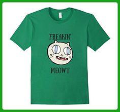 Mens Freakin meowt cat lovers funny shirt 3XL Kelly Green - Animal shirts (*Amazon Partner-Link)