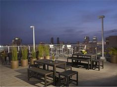 Nothing beats a roof top deck...esp. when you can see the city lights. :)
