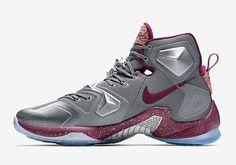 Nike LeBron 13 Opening Night Colorway  Cool Grey Wolf Grey Deep Garnet  Release Date  November 27, 2015 a91958f16e4c