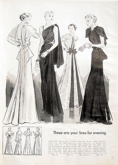Vintage 30s Vogue Couture Sewing Pattern Book