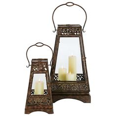 Rangoon Lantern $24.95  #home #decor #candle #holder