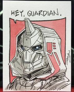 #ECCC2016 sketch card commission: Cayde-6! #destinythegame