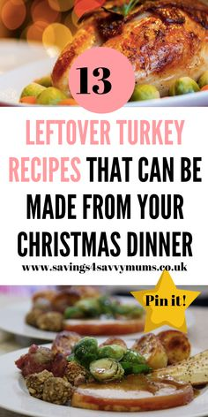 Here are 13 leftover turkey recipes that not only use up everything you have left, but also all come in at under a head by Laura at Savings 4 Savvy Mums Fun Easy Recipes, Dinner Recipes, Frugal Recipes, Delicious Recipes, Cheap Meals, Easy Meals, Turkey Soup From Carcass, Leftover Turkey Recipes, Midweek Meals