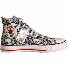 Converse Scarpe All Star Chucks Eu 12 Teschio Edizione Limitata Vintage Converse All Star, Converse Chuck Taylor, Cool Converse, Converse Sneakers, Converse High, Only Shoes, Top Shoes, Me Too Shoes, Ankle Boots