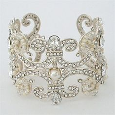 Cuff bracelet...Pearls..with a little Bling! ;)