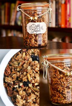 Salty Olive Oil Granola | 24 Delicious DIY Food Gifts In Jars