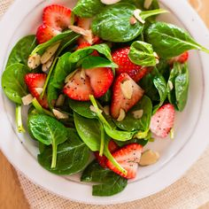 Strawberry Spinach Salad Poppyseed Dressing I made this tonight and added some grilled chicken, and it was delicious!!