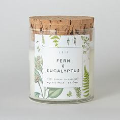 Poured in Brooklyn, New York, this botanically blended candle beautifully burns with a wooden wick and a strongly scented soy wax blend. It burns bright for 60+ hours and is scented with earthy greens