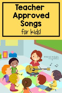 Songs for Kids that are Teacher Approved - Preschool Inspirations Circle Time Songs, Circle Time Activities, Kids Learning Activities, Kindergarten Activities, Classroom Activities, Toddler Activities, Math Songs, Preschool Songs, Preschool Science