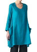 Vivid Linen Womens Long Sleeve Top