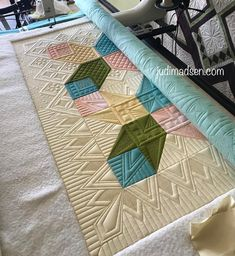 """676 Likes, 50 Comments - Judi Madsen (@judiakagreenfairy) on Instagram: """"So excited to share this finally! This is a new class I taught here at @mqxquiltshow and it was a…"""""""