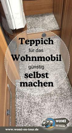 So einfach gehts - Wohnmobil Teppich selbst gemacht mit einem Teppich aus dem skandinavischen Möbelhaus. #DIY #Teppich #Wohnmobil