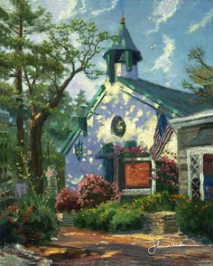 Thomas Kinkade - Church of the Wayfarer  2004