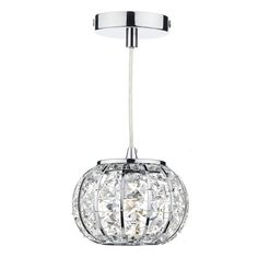 Rae Modern Chrome and Glass Ceiling Pendant Light Dar Lighting Lighting Mini Pendant Lights, Drum Pendant, Ceiling Pendant, Globe Pendant, Lantern Pendant, Pendant Lighting, Light Pendant, Ceiling Lights, Chandelier