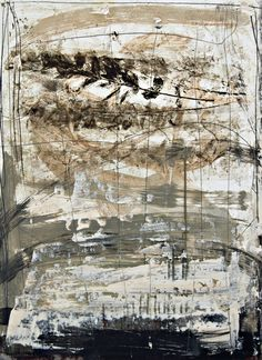 """Untitled RL652009 by Rick Lewis - Mixed Media on Paper - 30"""" x 22"""" - For questions or prices please contact us at info@igifa.com"""