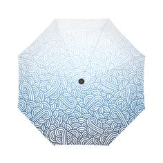 Gradient blue and white swirls doodles Auto-Foldable Umbrella by @savousepate on Artsadd #umbrella #foldableumbrella #blueumbrella #ombreblue #ombrecolor #gradientcolor #blueandwhite #whiteandblue