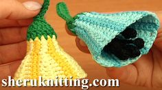 CROCHET BELL-FLOWER PATTERN http://sheruknitting.com/videos-about-knitting/crochet-flower-lessons/item/712-crochet-bell-flower-pattern.html  This crochet video tutorial demonstrates in detail how to make an adorable striped multicolored bell flower with stamens.