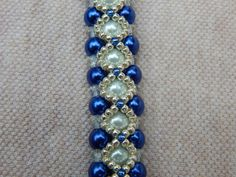 Lapis of Luxury pearl and crystal bracelet by ImaBraceletgirl