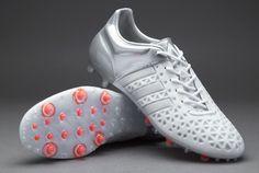 adidas ACE 15.1 FG/AG - White/White/Silver Metallic