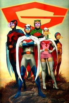 Fuerza G (Battle of the Planets) Cartoon Tv Shows, Cartoon Art, Cartoon Characters, Comic Book Heroes, Comic Books Art, Comic Art, Illustration Manga, Battle Of The Planets, Old School Cartoons