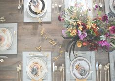 fall wedding tablescape, photo by Six Hearts Photography http://ruffledblog.com/fall-wedding-ideas-with-a-floral-and-wheat-bouquet #weddingideas #tablescapes