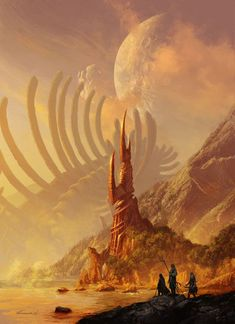 Fantasy concept art - totally epic illustrations by michael kormack Fantasy Art Landscapes, Fantasy Landscape, Landscape Art, Desert Landscape, Fantasy Concept Art, Fantasy Artwork, Digital Art Fantasy, Concept Art World, Environment Concept Art