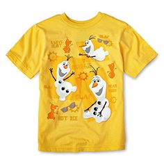 Disney Frozen Olaf Graphic Tee T  Shirt 56 *** Want additional info? Click on the image.